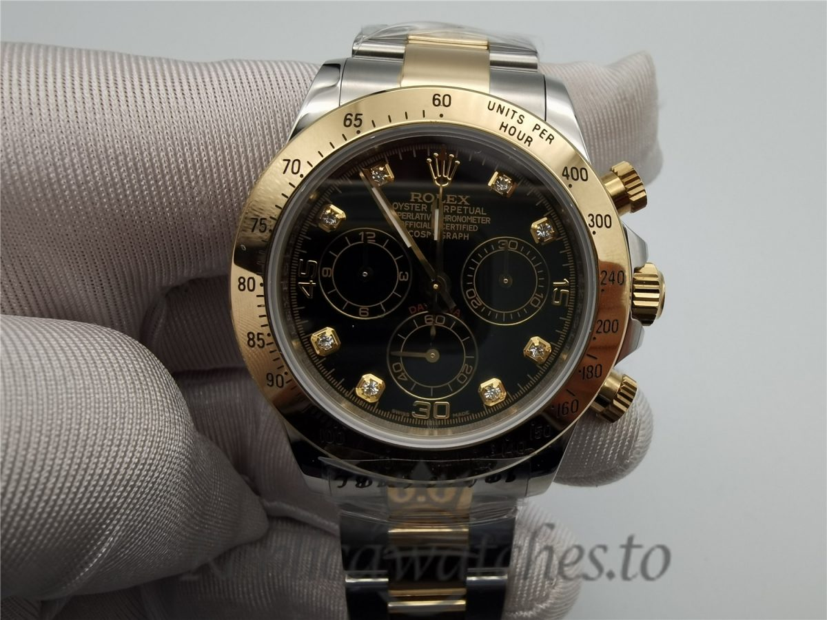 Rolex Daytona 116503 40mm Stainless Steel & Yellow Gold And Black Dial For Men Watch
