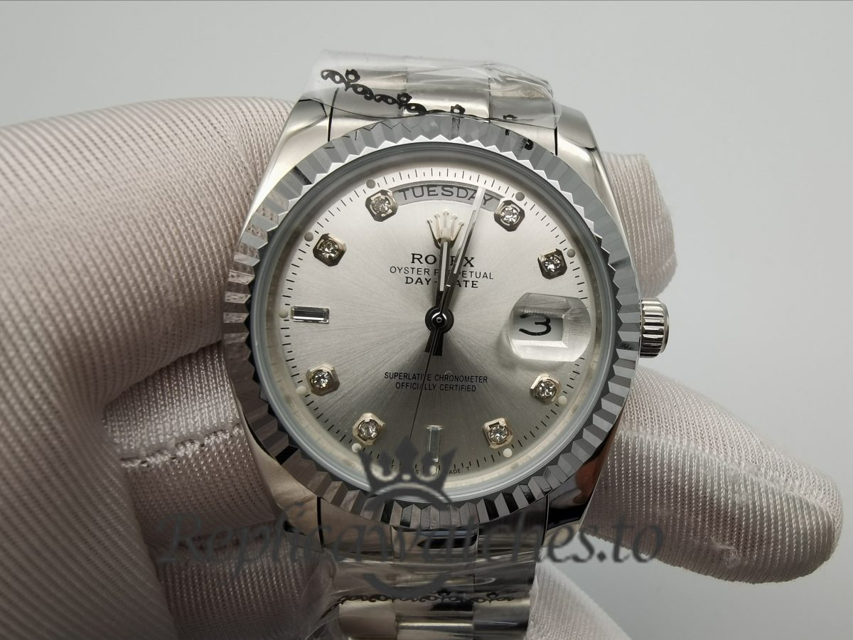 Rolex Day-Date 128239 316L Stainless Steel 36mm For Men Watch