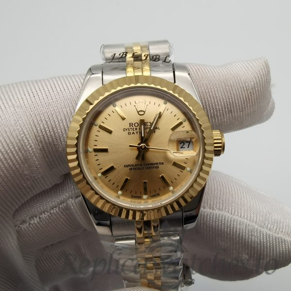 Rolex Datejust 179173 Stainless Steel & Yellow Gold And Gold Dial For Women 26mm Watch