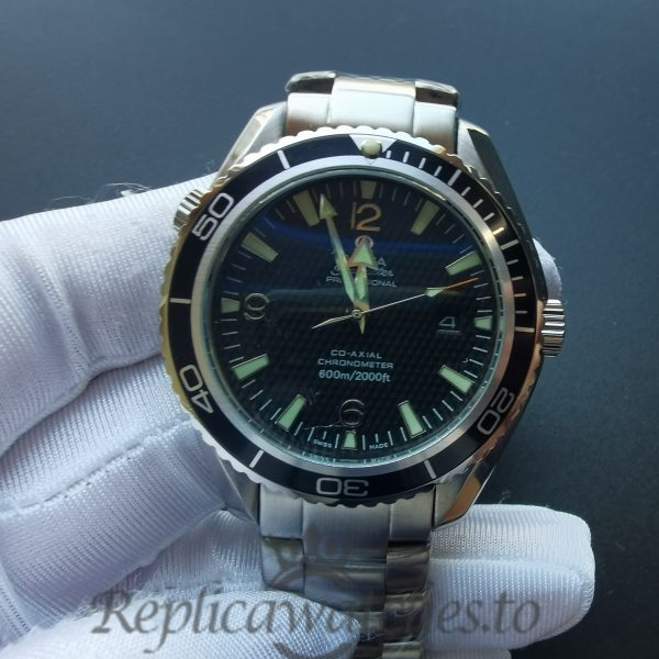 Omega Seamaster 2200.50.00 Stainless Steel And Black Dial 45mm For Men Watch