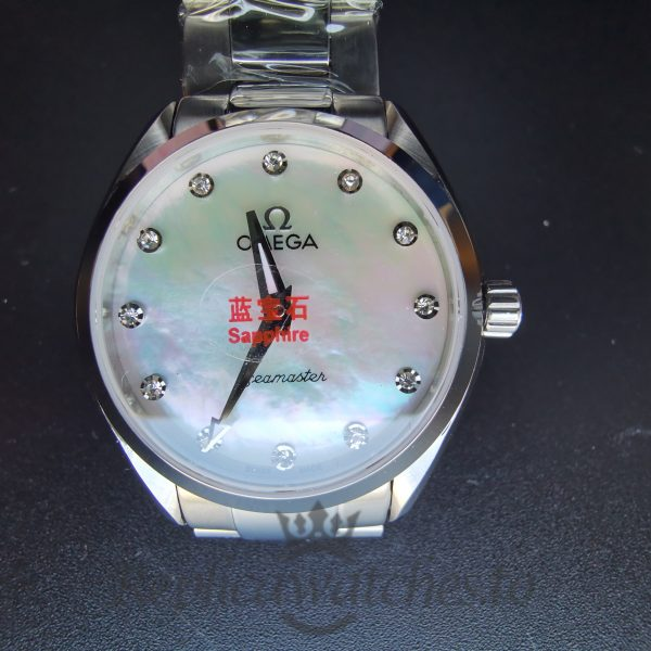 Omega Seamaster O22010286055001 Solid Stainless Steel And Mother Of Pearl For Men 28 Mm Watch