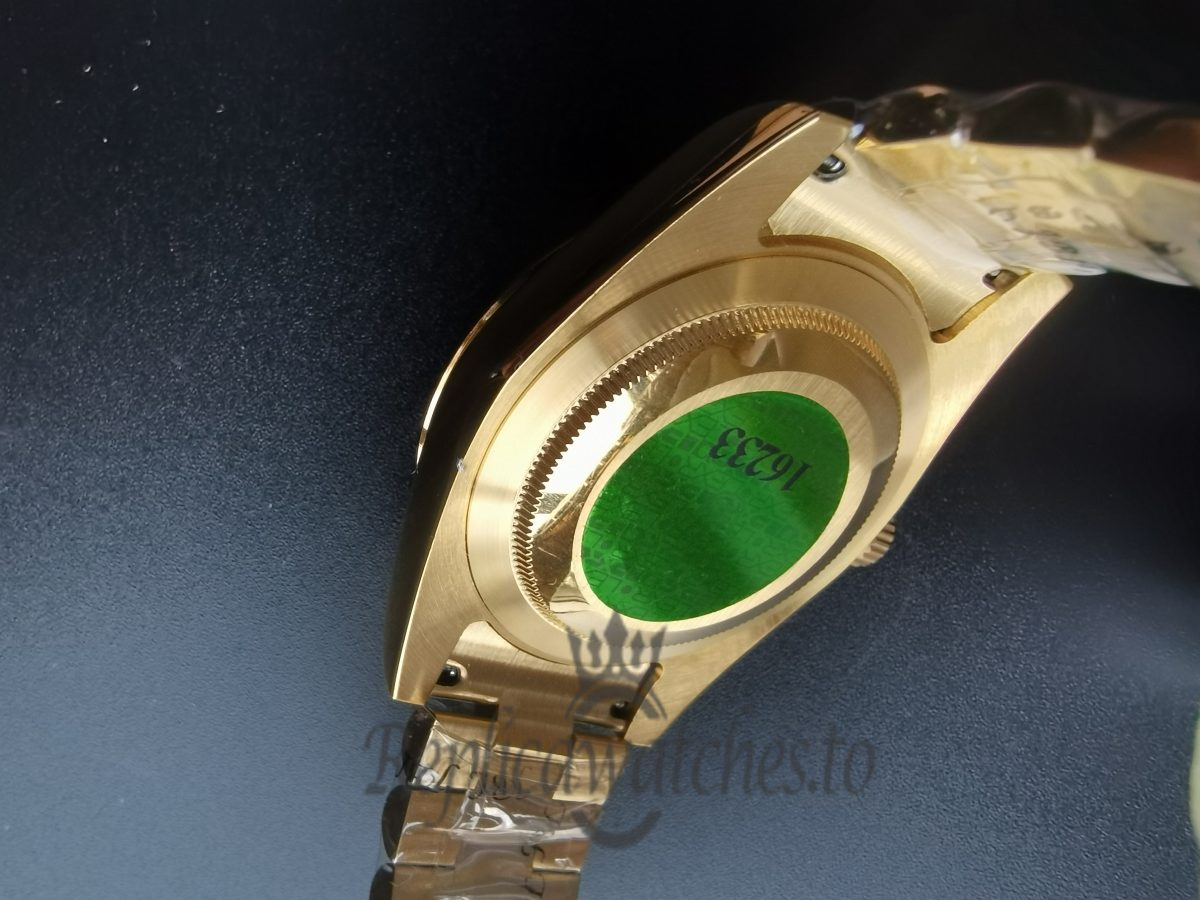 Rolex Day-Date 218238 18K Yellow Gold Fluted Bezel41 Mm For men Watch