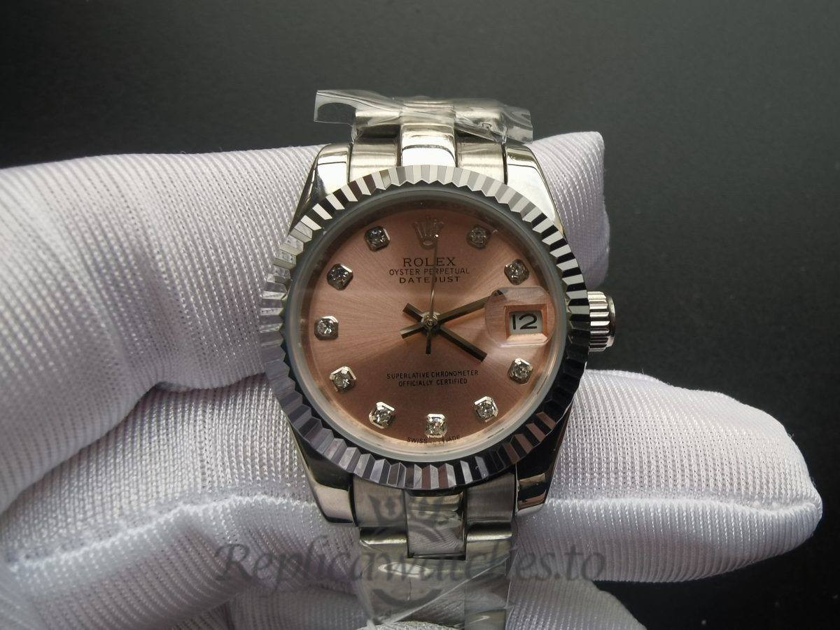 Rolex Datejust 178271 31mm Stainless Steel Oyster Pink Dial For Women Watch