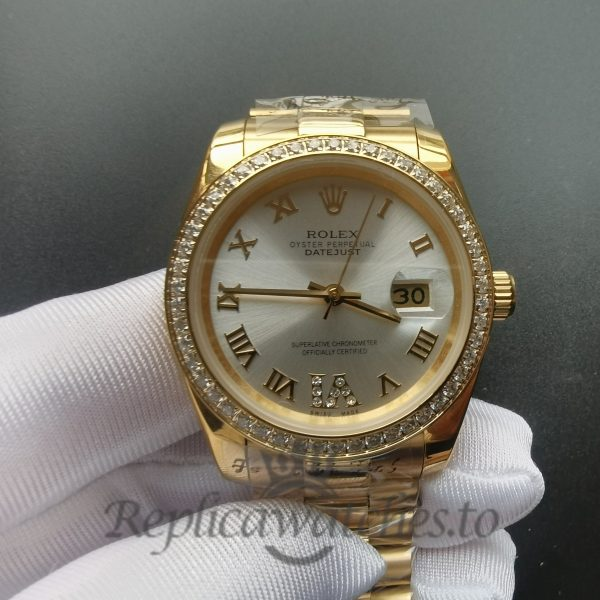 Rolex Datejust 126300 18K Gold And silver 31 Mm For Men Watch