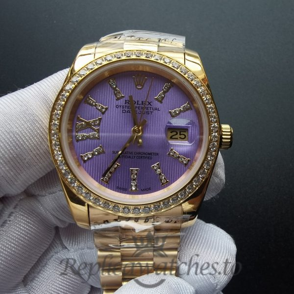 Rolex Datejust 278384 18k Yellow Gold Purple Stainless steel 31 Mm For Women Watch
