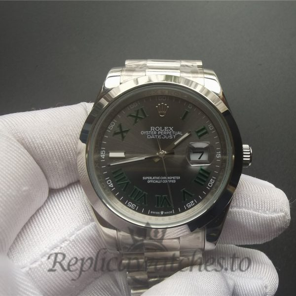 Rolex Datejust 126300 904l Stainless Steel And Gray Dial For Men 41mm Watch