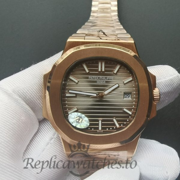 Patek Philippe Nautilus 57111r-001 Yellow Gold And Dark Brown 40mm For Men Watch
