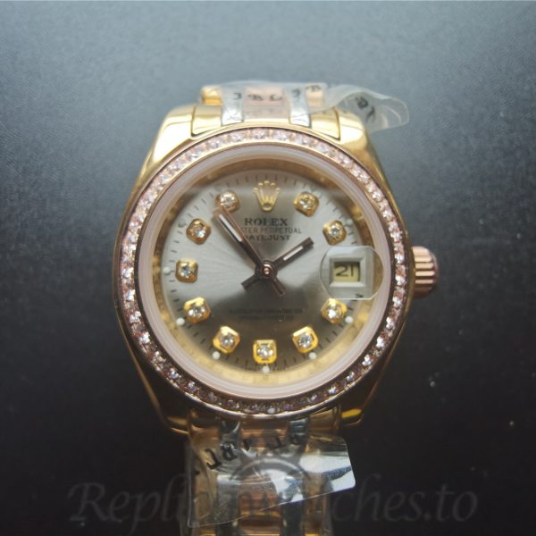 Rolex Pearlmaster 80298 29mm 18k Yellow Gold For Women Watch