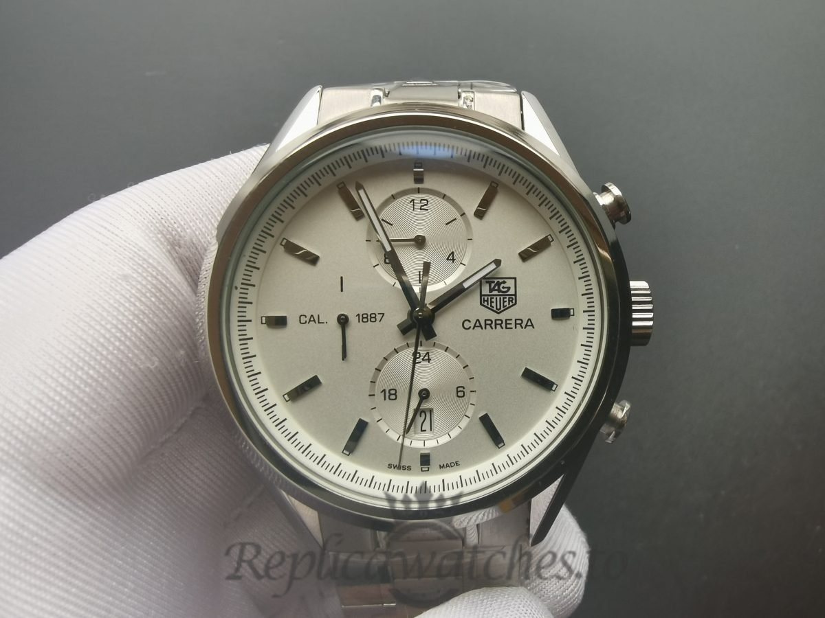 Tag Heuer Carrera Car2111.Ba0720 41mm Polished With Brushed Stainless Steel For Men Watch
