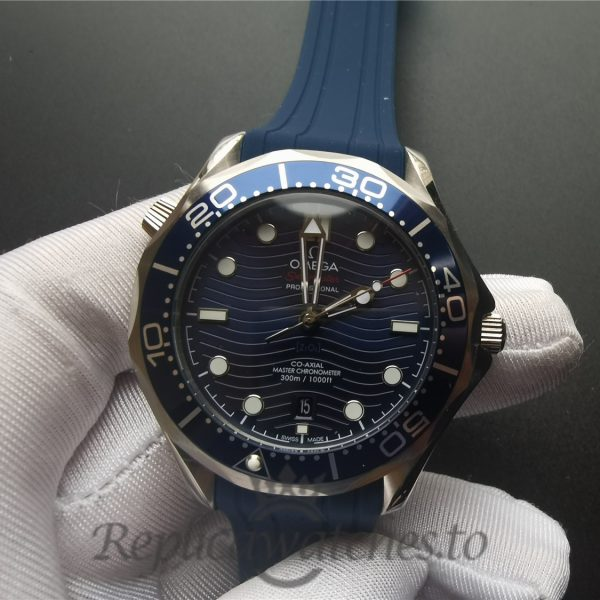 Omega Seamaster 210.32.42.20.03.001 42mm Rubber Strap Blue Dial For Men Watch