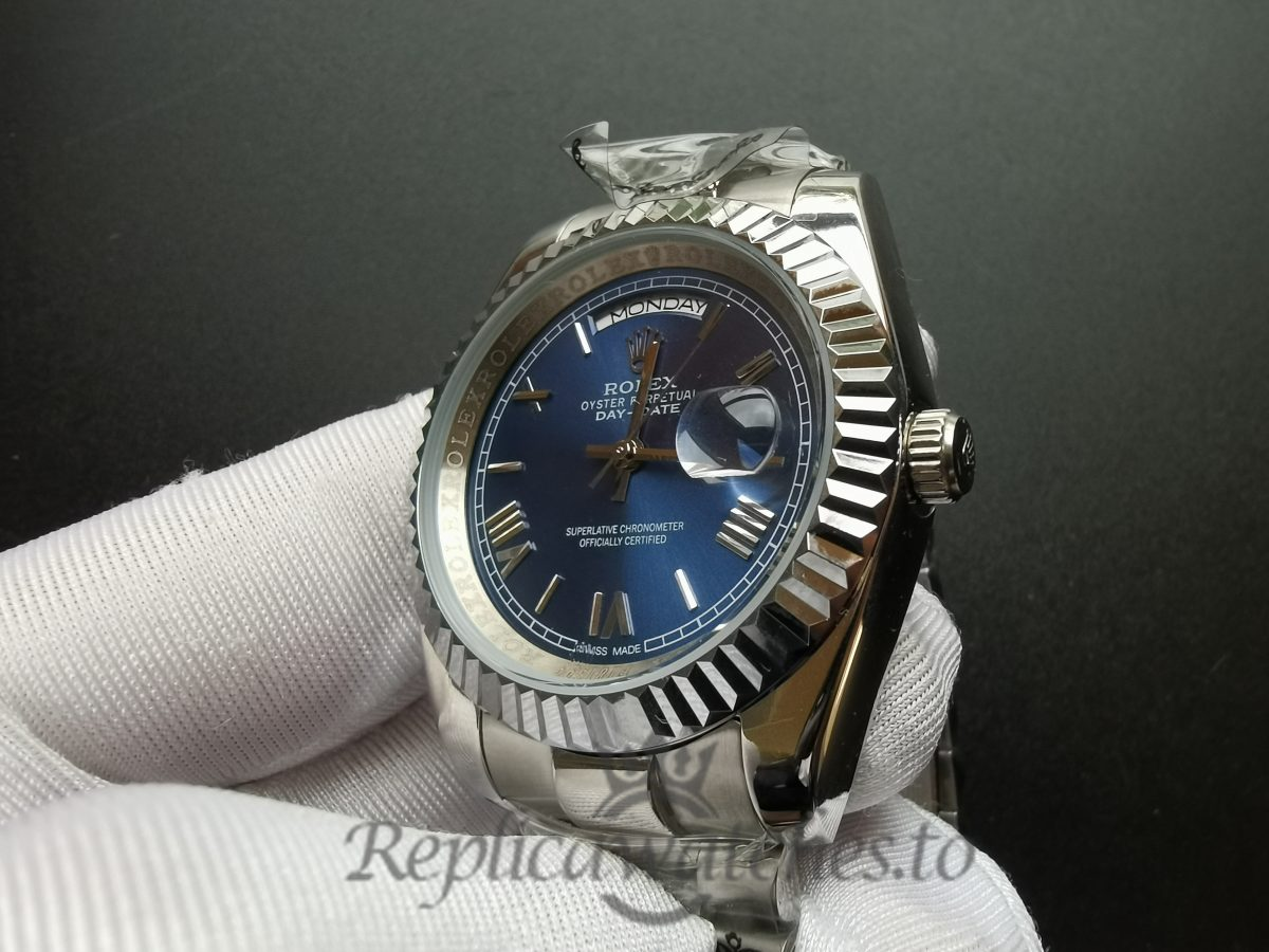 Rolex Day-date 228239 40mm Blue Dial White Gold For Men Watch