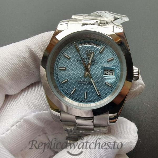 Rolex Day-date 228206 Platinum And Ice Blue Dial For Men 40mm Watch