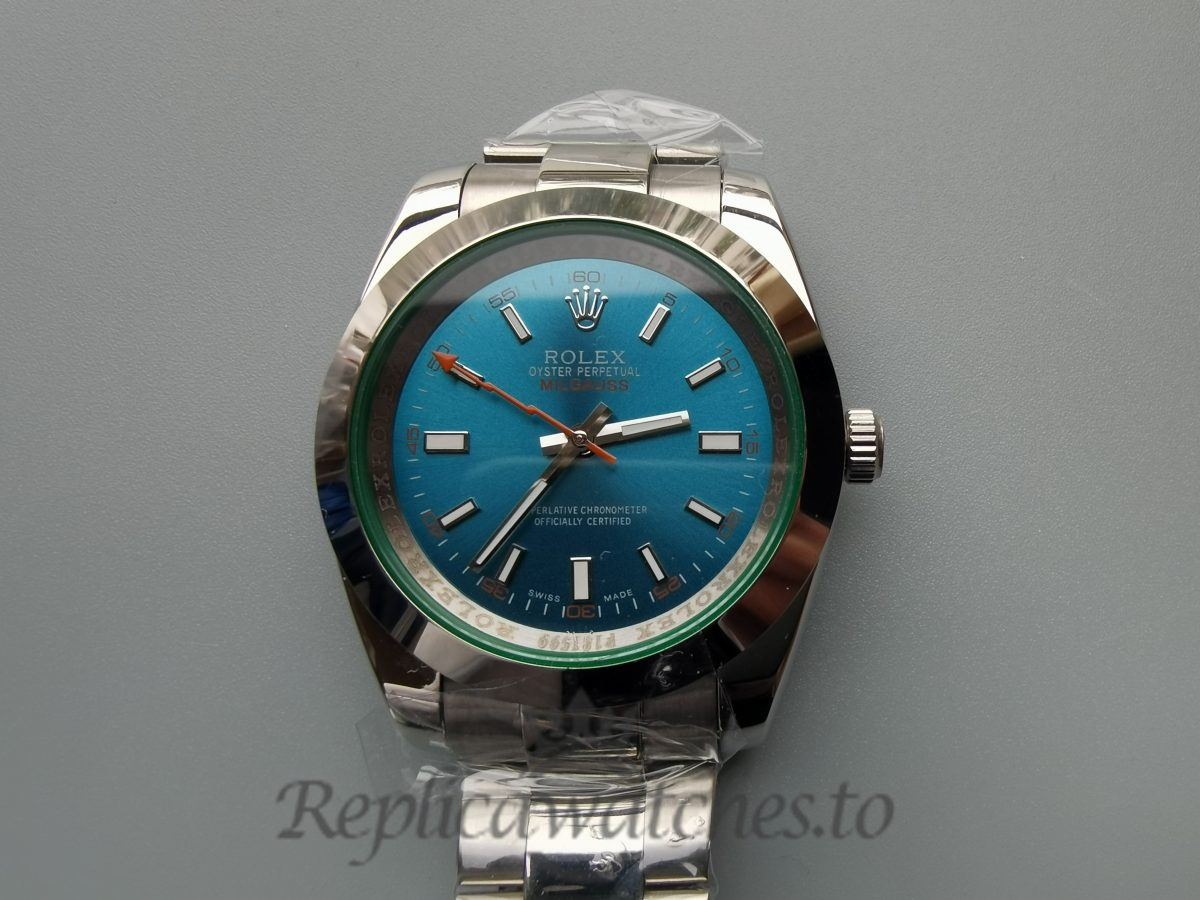 Rolex Milgauss Blue , Green Dial And Stainless Steel 40mm 116400v For Men Watch