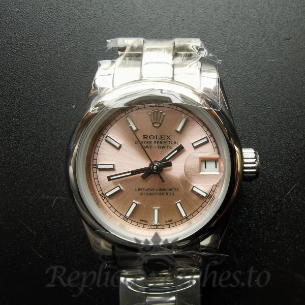 Rolex Datejust 179160 26mm Pink Dial Silver For Women Watch