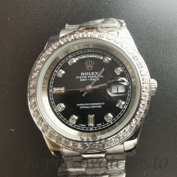 Rolex Day Date 228349rbr Black Dial 316 Grade Stainless Steel 40mm For Men Watch
