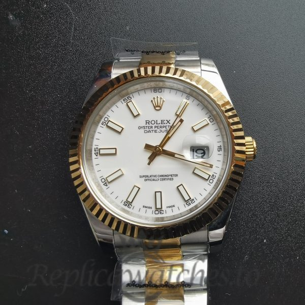 Rolex Datejust 2813 Stainless Steel White Dial 41mm For Men Watch