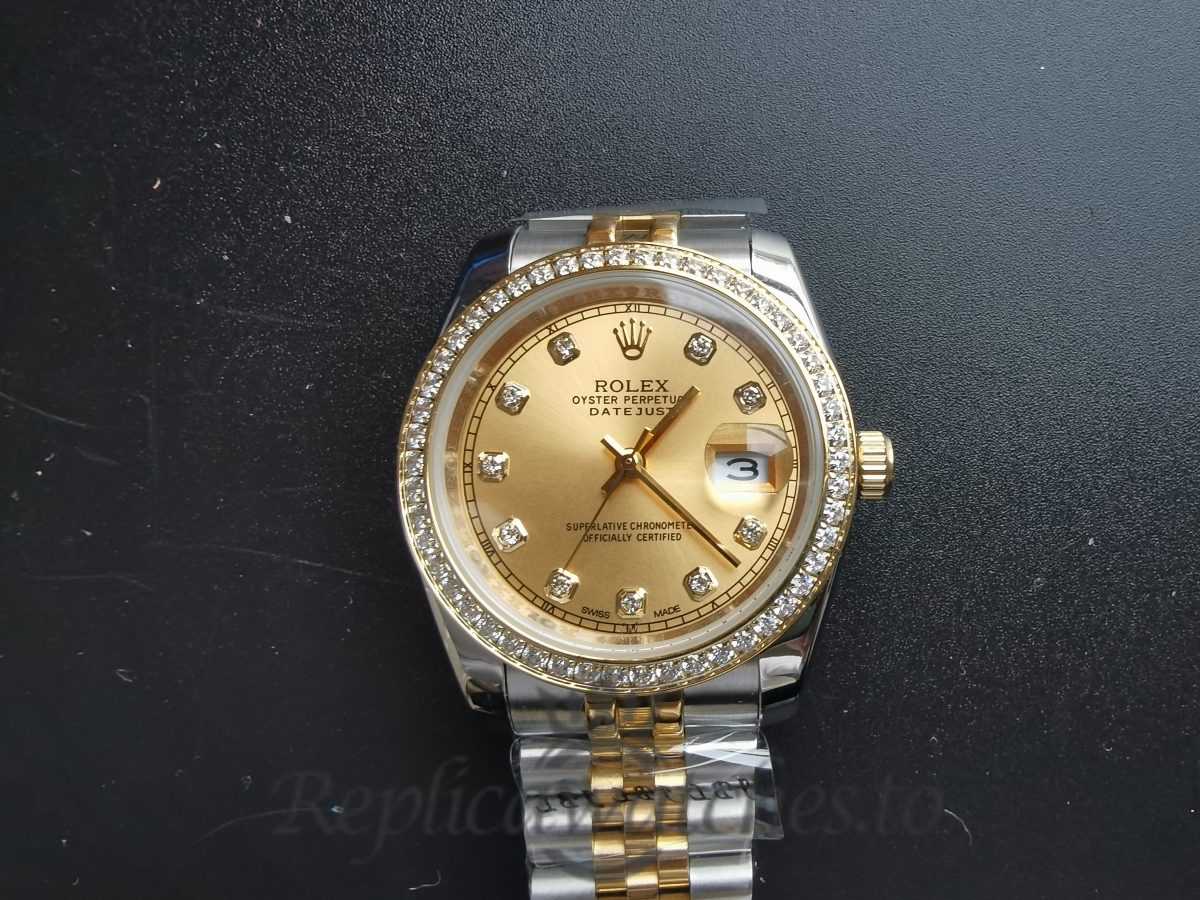 Rolex Datejust 26283rbr 36mm Stainless Steel And Yellow Gold Champagne For Women Watch