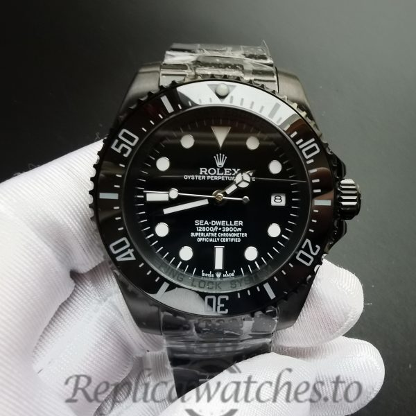 Rolex Deepsea 44mm 116660 Black Dial And Stainless Steel For Men Watch