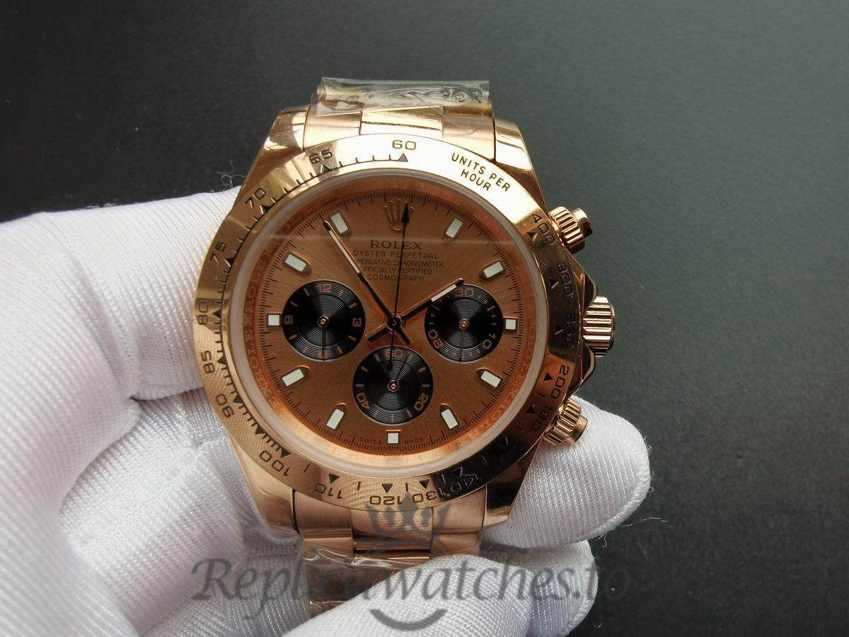 Rolex Daytona 116505 40mm 18kt Everose Gold And Pink Dial For Men Watch