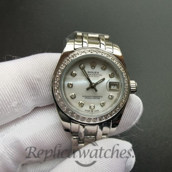 Rolex Pearlmaster 80299 White And 18k White Gold Pearlmaster 29mm For Women Watch
