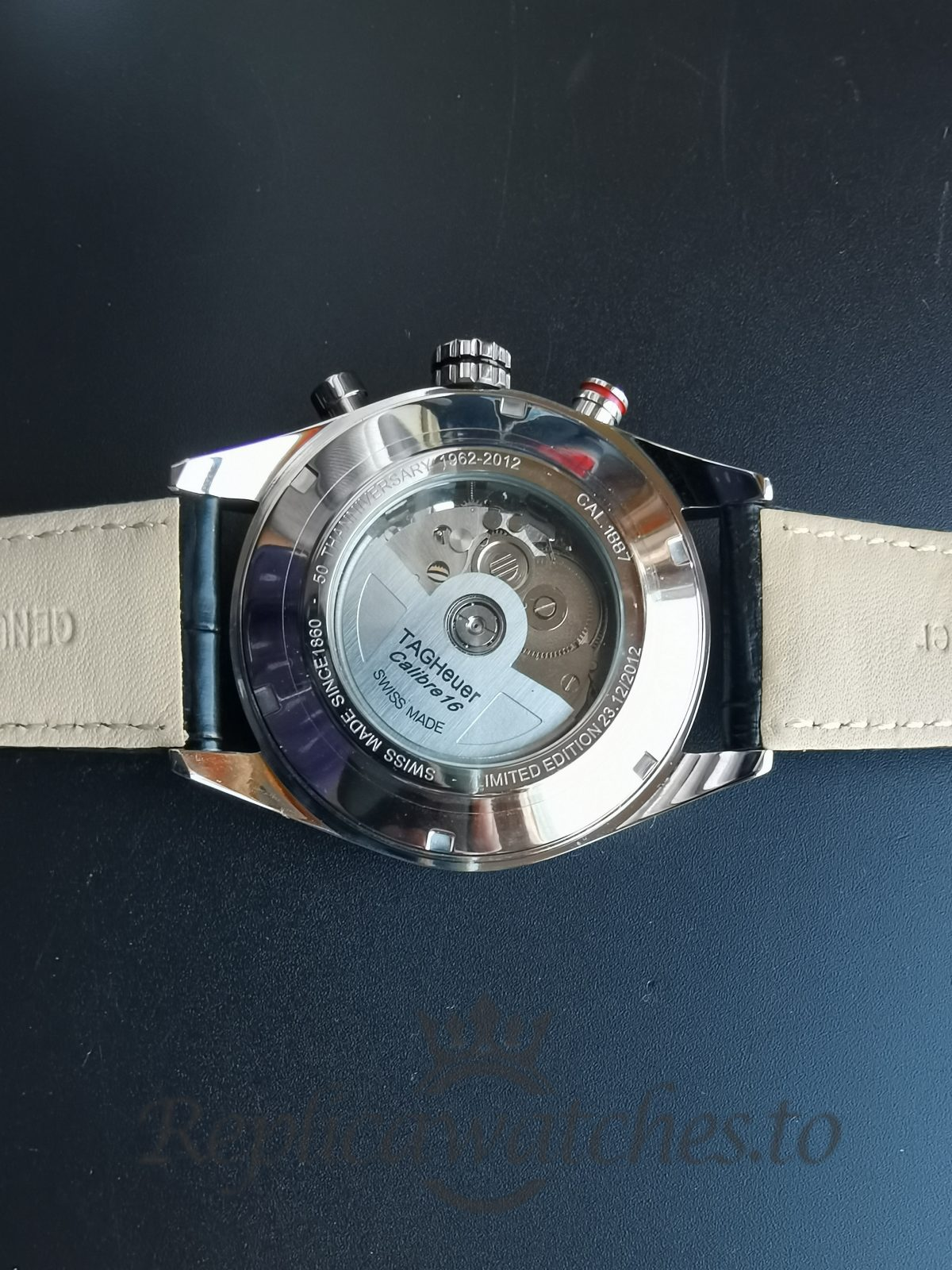 Tag Heuer Carrera 43.5mm Stainless Steel And Leather For Men Watch