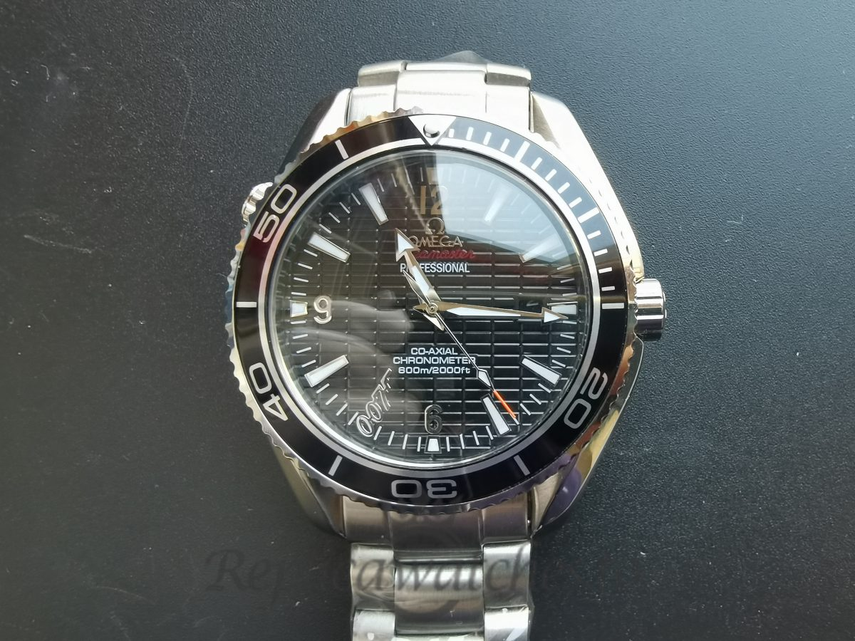 Omega Seamaster 42mm Stainless Steel And Black Dial For Men Watch