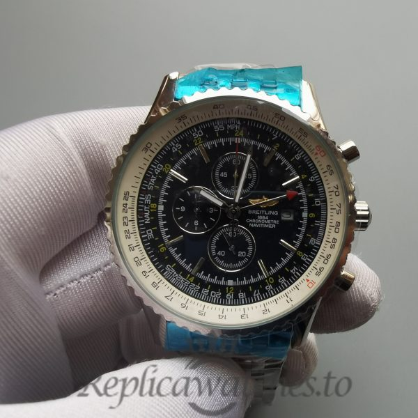 Breitling Navitimer 46mm Black Dial And Steel For Men Watch