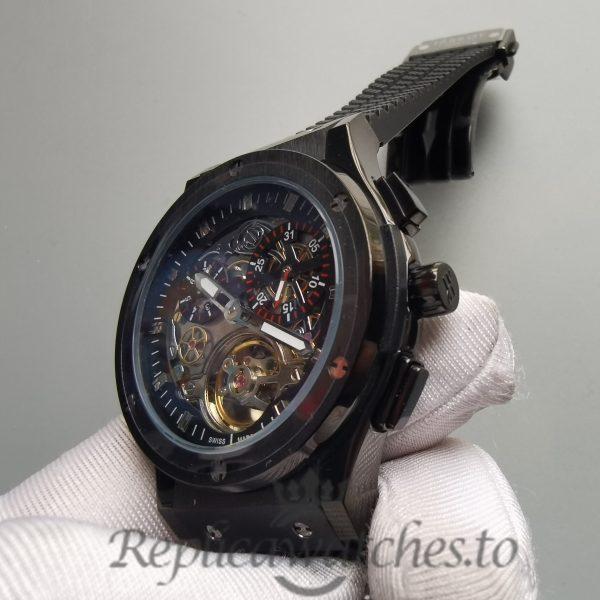 Hublot Limitierte 45mm Metal Dial And Textured Black Rubber For Men Watch