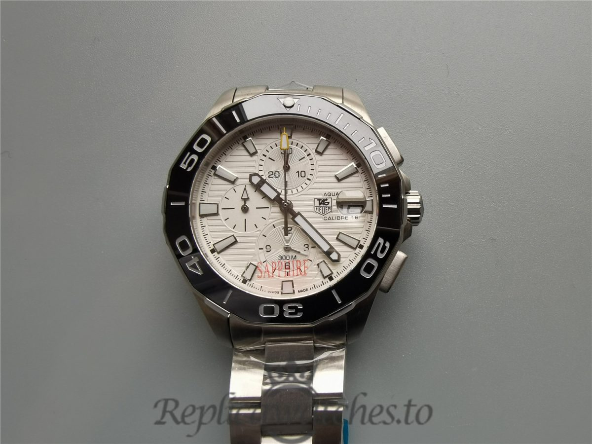 Tag Heuer Aquaracer Silver Dial And Stainless Steel 43mm For Men Watch