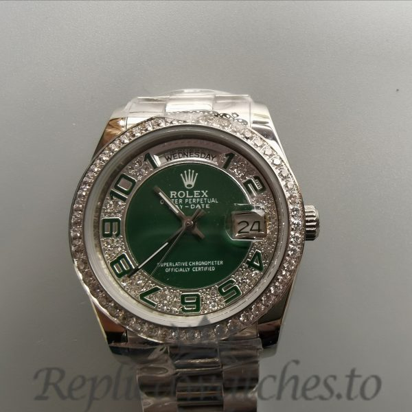 Rolex Day-date 118346 Steel With Diamonds 36mm For Women Watch