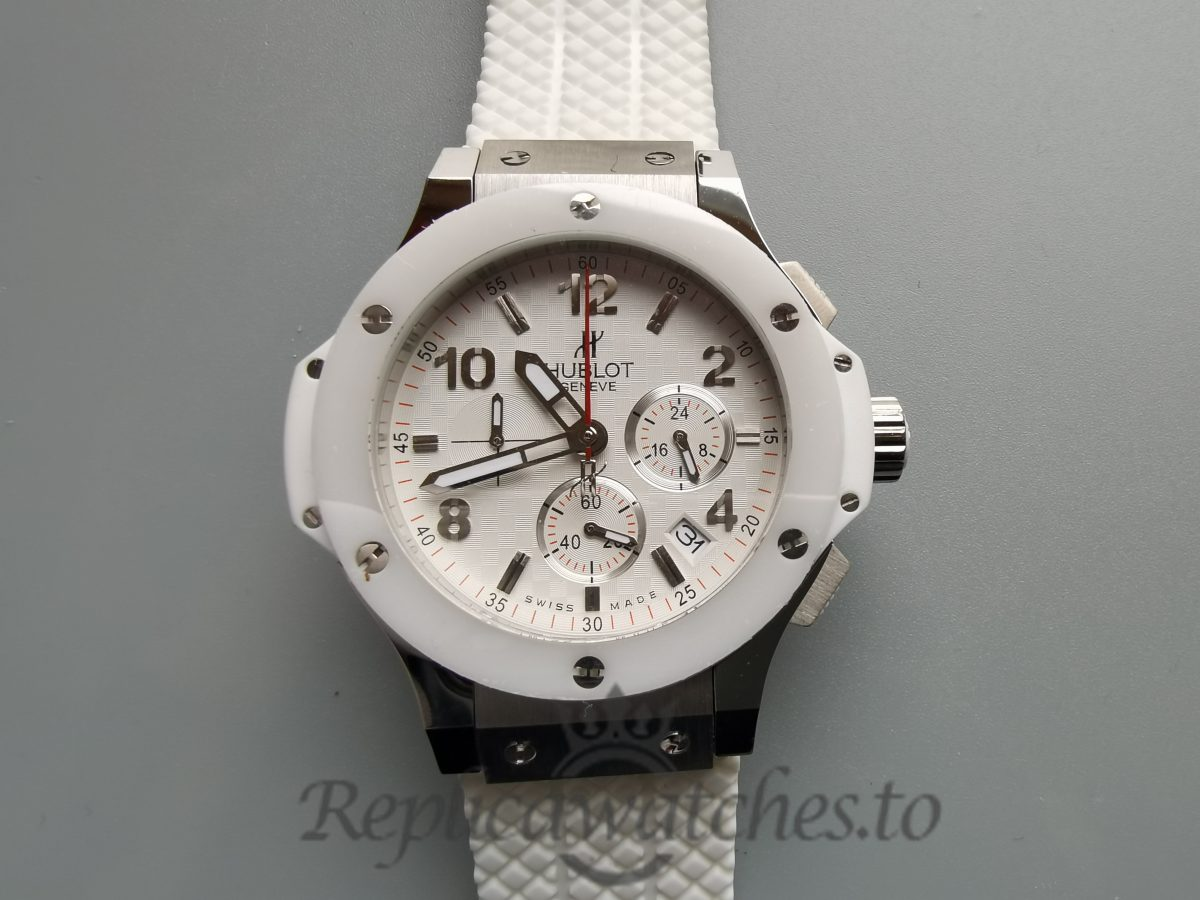 Hublot Big Bang 301.SE.230.RW.114 Rubber And White Dial 44mm For Men Watch