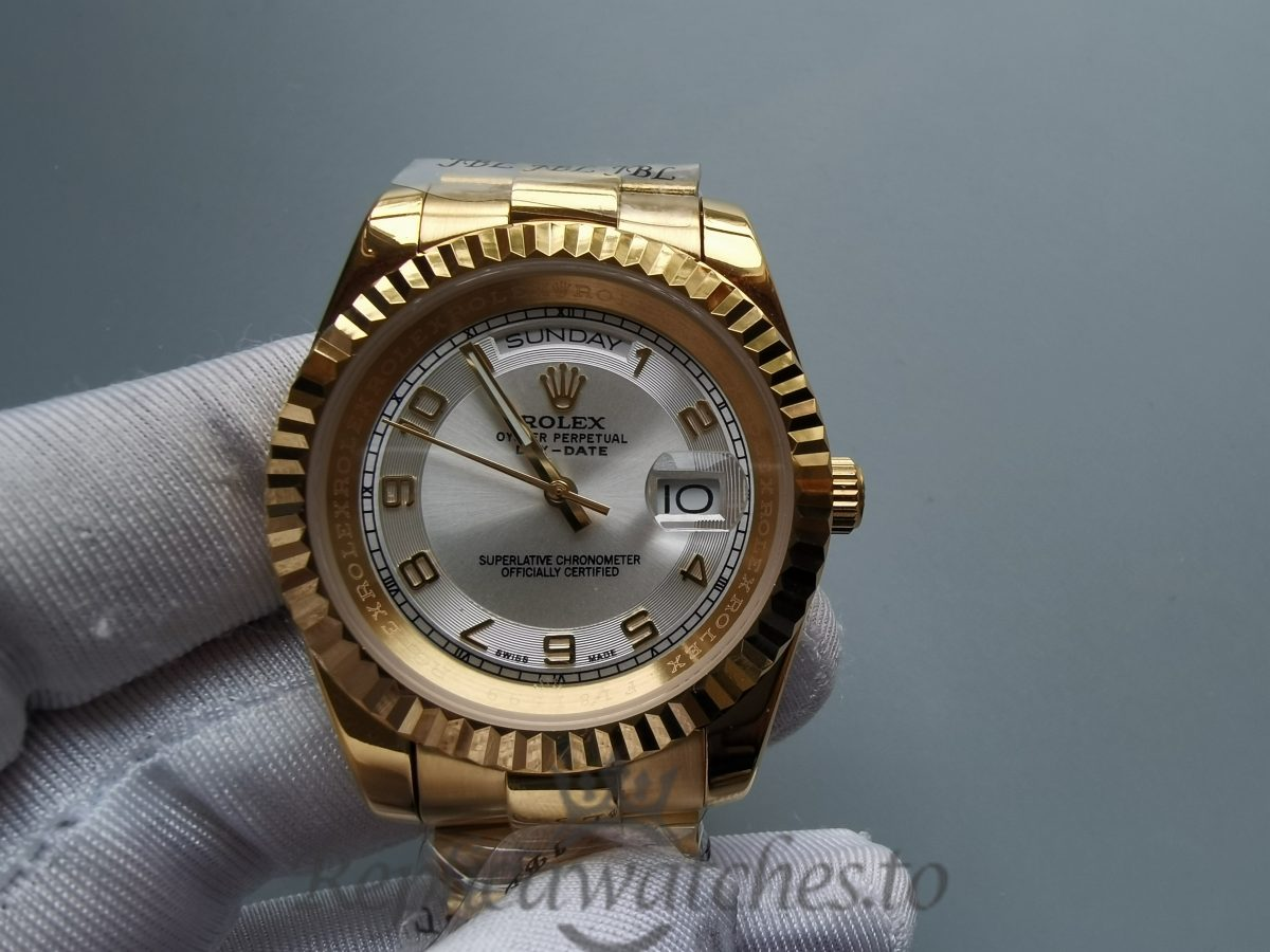 Rolex Day-date Yellow Gold Ivory / Cream Dial For 41mm Women Watch