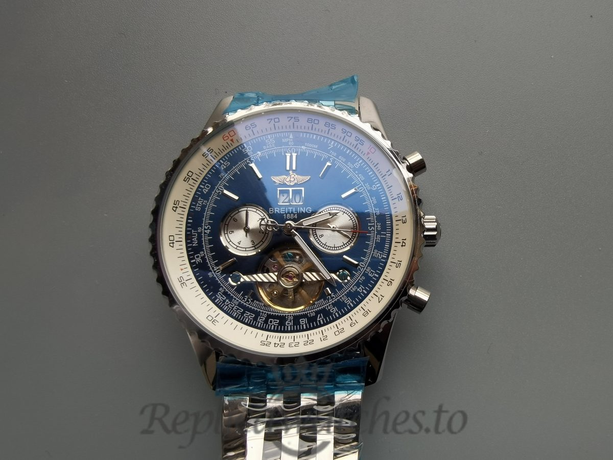 Breitling Navitimer A24322 Stainless Steel Blue Dial 46mm For Men Watch