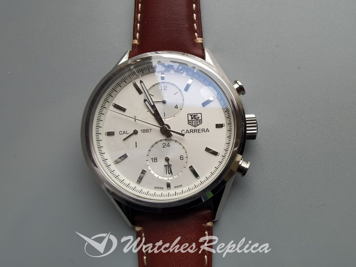Tag Heuer Carrera Car2111.Fc6291 41mm Ivory Stainless Steel For Men Watch