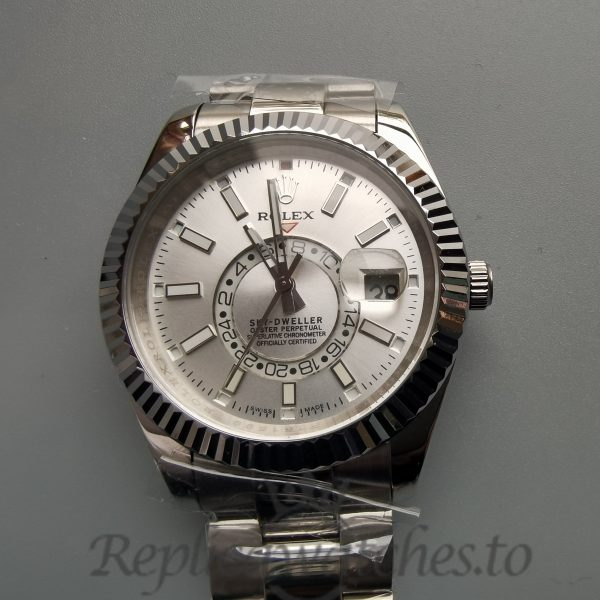 Rolex Sky-dweller 326934 White Dial And 904l Stainless Steel 42mm For Men Watch