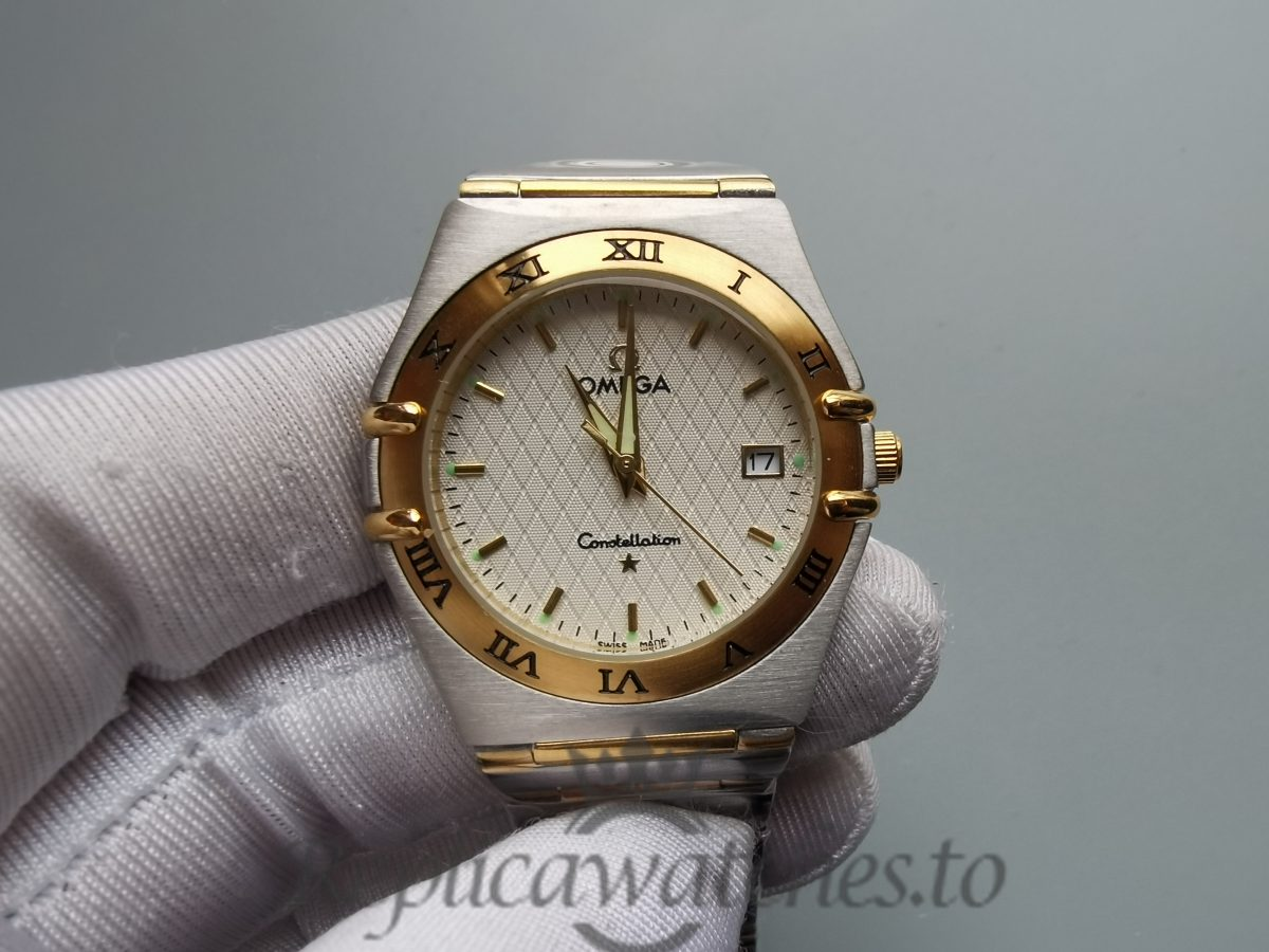Omega Constellation 1212.30.00 Steel - Gold Full Bar Silver 33.5mm For Women Watch