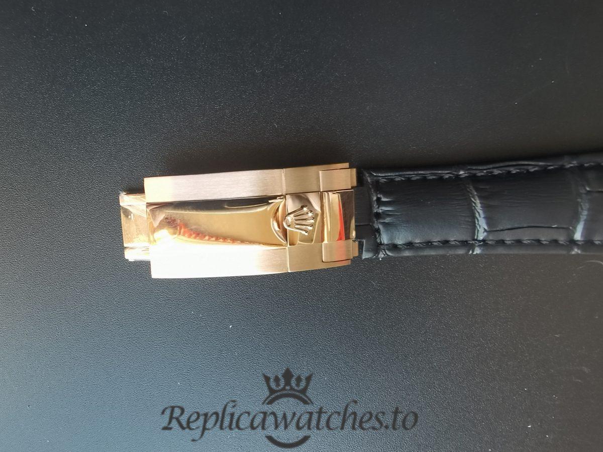 Rolex Daytona 116515 40mm Ln Chocolate Arabic And Alligator – Black For Men Watch