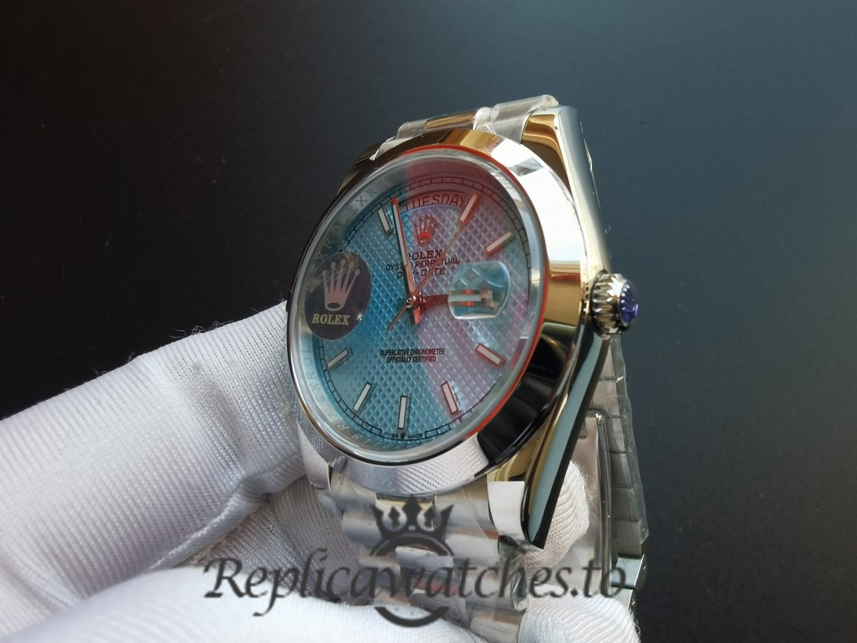 Rolex Daytona A3255 Solid Stainless Steel and Blue Dial 40mm For Men Watch