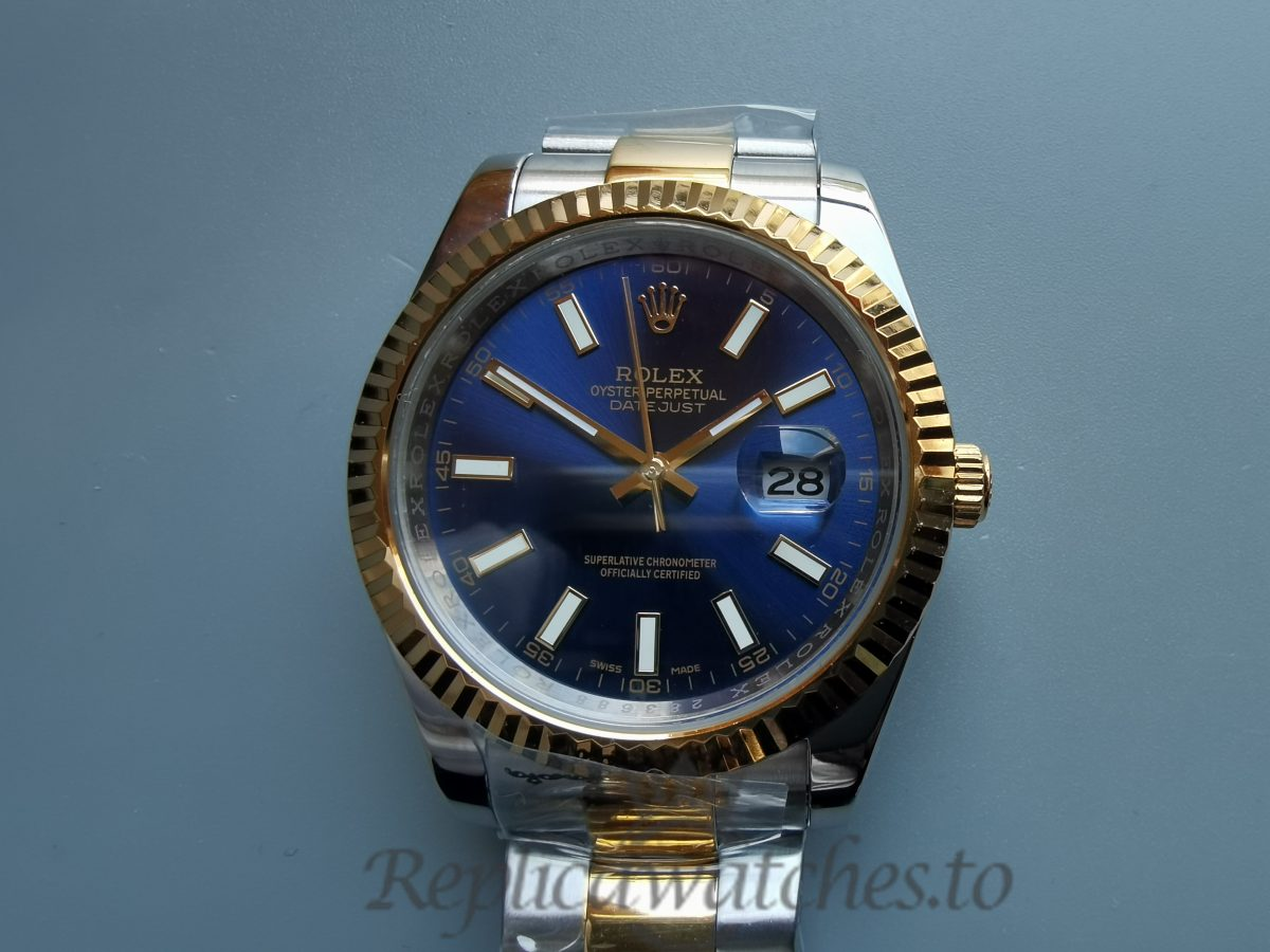 Rolex Datejust 116300 Steel (Oyster) White Baton Dial 41mm For Men Watch