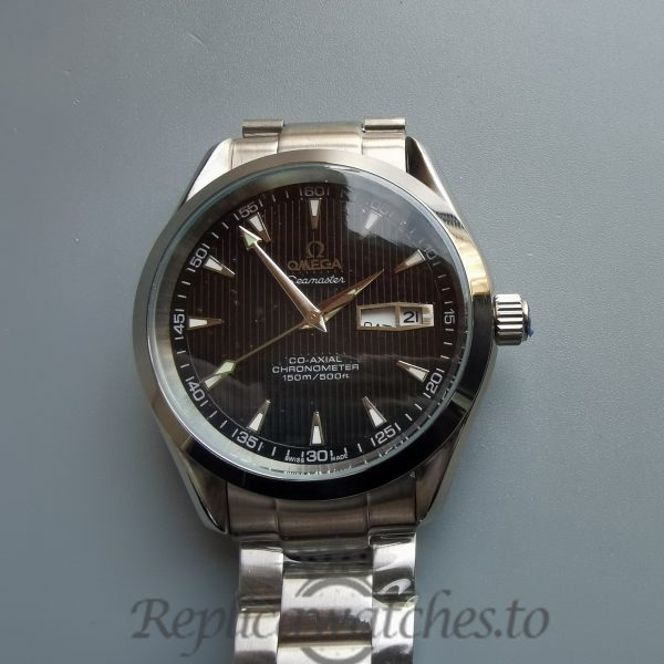 Omega Seamaster Iw371438 43mm Grey Dial And Stainless Steel For Men Watch
