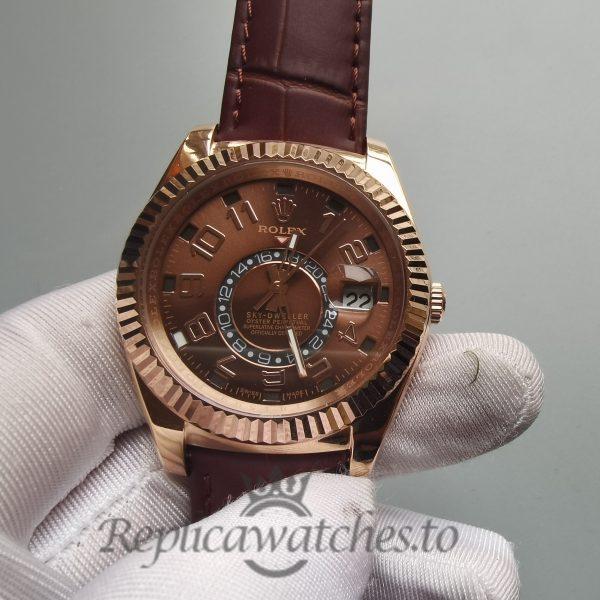 Rolex Sky-dweller 326135 Chocolate Brown 18k Rose Gold 42mm For Men Watch