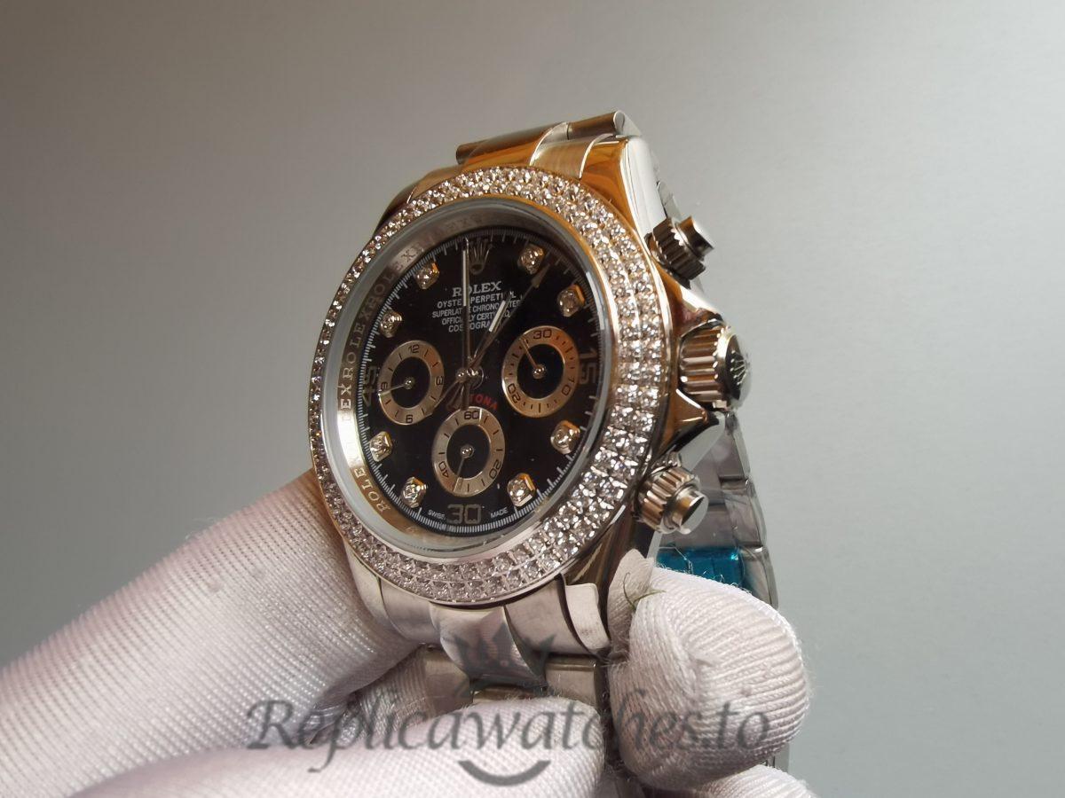 Rolex Daytona Swiss 316l Steel Black For Women Watch