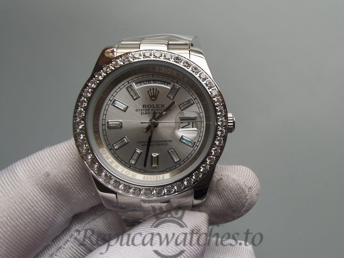 Rolex Day-date 228349 40mm 18 Carat White Gold Silver Dial For Men Watch