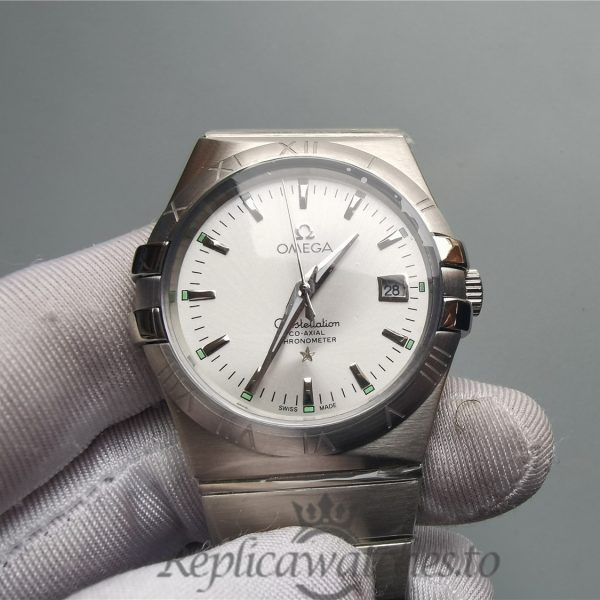 Omega Constellation 123.10.38.21.02.001 38mm 316 Grade Stainless Steel Silver For Men Watch