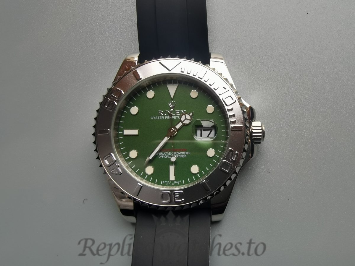 Rolex Yacht-master Green Dial And Stainless Steel 40mm For Men Watch
