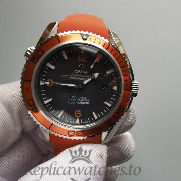 Omega Seamaste Pr611 43mm Brushed Stainless Steel Black For Men Watch