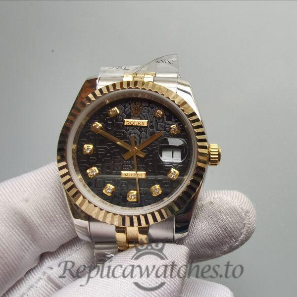 Rolex Datejust 116233 36 Mm 18k Yellow And Black Jubilee Diamond For Women Watch