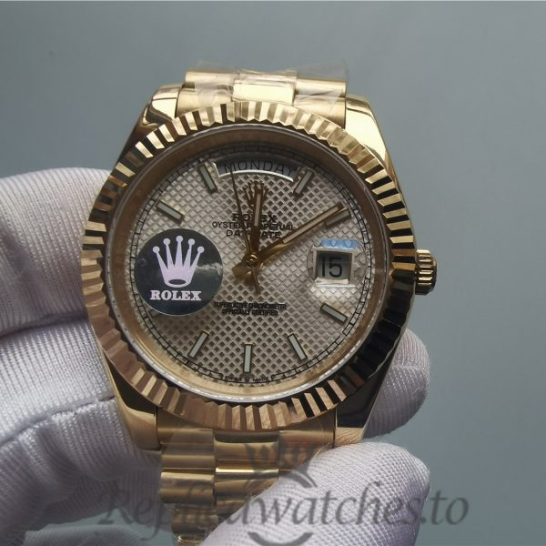 Swiss Rolex Day Date 228238 Yellow Gold Bracelet 40mm For Men Watch